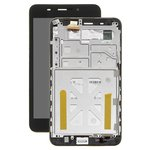 LCD compatible with Asus FonePad 7 ME375, (black, with touchscreen, with frame)