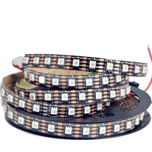 RGB LED Strip SMD5050, SK9822 (black, with controls, IP20, 5 V, 60 LEDs/m, 5 m)