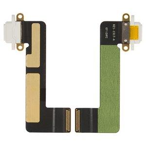 Cable flex para tablet PC Apple iPad Mini,  del conector de carga, con componentes, blanco