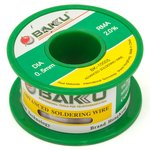 Estaño BAKU BK-5005, Sn 63% , Pb 35,1%, flux 1,9%, 0,5 mm, 50 g