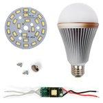 Juego de piezas para armar lámpara LED regulable SQ-Q24 12 W (luz blanca fría, E27)