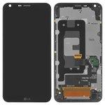 Pantalla LCD para celular LG Q6 M700, negro, con marco, con cristal táctil, Original (PRC)