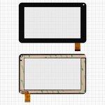 """Сенсорный экран China-Tablet PC 7""""; Jeka JK700; Modecom FreeTab 2069, 7"""", 111 мм, 186 мм, 30 pin, емкостный, черный, #DR1657-D/FPC-070-17/070-173"""