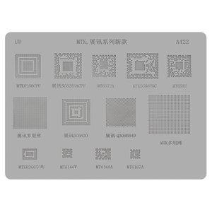 BGA-трафарет A422 для мобільного телефону China-phone universal, MT6572A, SC6825C, MT6582, MT6166, 13 in 1