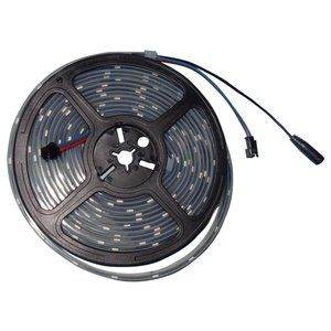 Світлодіодна стрічка RGB SMD5050, WS2813 (чорна, з управлінням, IP67, 5 В, 30 діодів/м, 5 м)