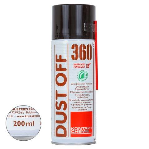 Сжатый воздух Kontakt Chemie DUST OFF 360 применение вверх дном (200 мл)