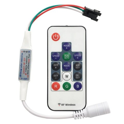 Контролер з радіопультом LED2017 RF RGB, 2048 пкс, 5 24 В