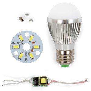 Комплект для сборки лампы, SQ-Q01, 5730 , 3 Вт, E27, CW (холодный), диммируемый